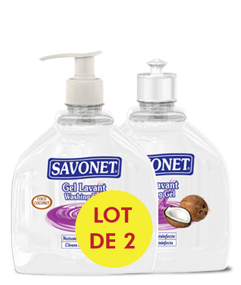 SAVONET Duo Washing gel with coconut - SIVOP