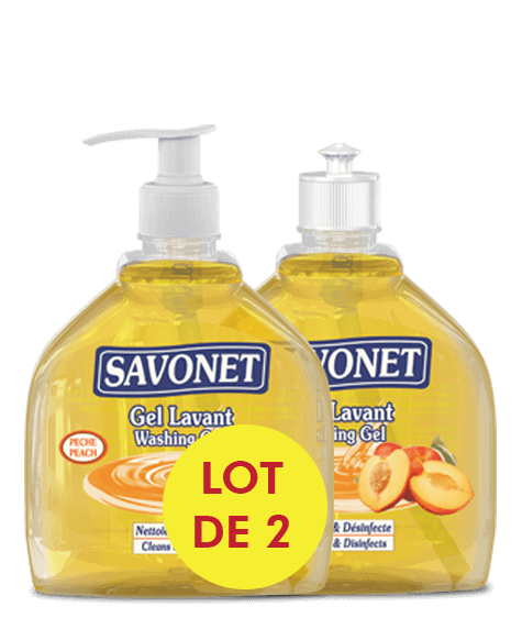 SAVONET Duo Washing gel with peach - SIVOP